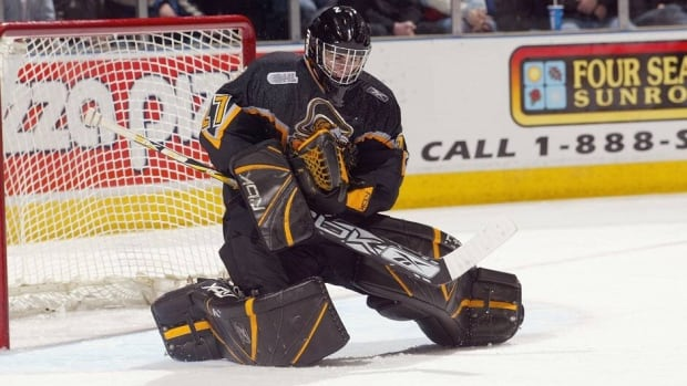 Danny Taylor, shown in this 2006 file photo, is the newest member of the Calgary Flames.