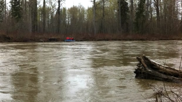 Search and rescue personnel were on Willow River east of Prince George, B.C., a year ago after two women drowned. A 60-year-old woman was swept away on Tuesday after falling down a riverbank.