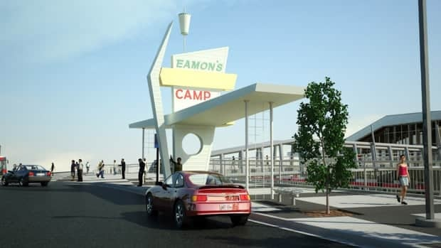 The city will use the Eamon's sign as part of the new LRT station at Tuscany.