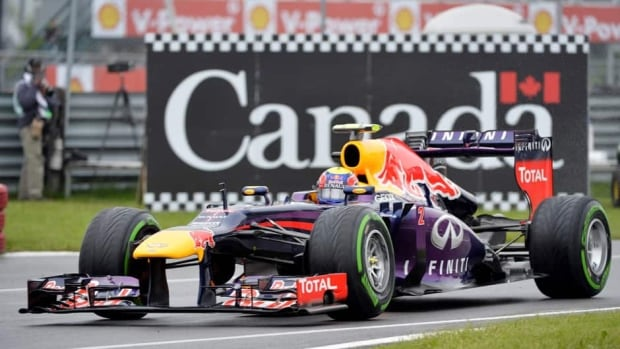 Red Bull driver Mark Webber was reprimanded for ignoring a yellow flag during an earlier practice session for the Canadian Grand Prix.