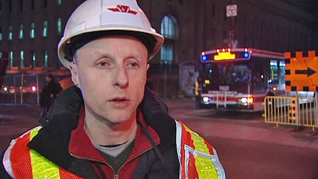 The TTC's chief operating officer, Andy Byford, says the damage is extensive after contractors working at Union Station hit a water main on the weekend.
