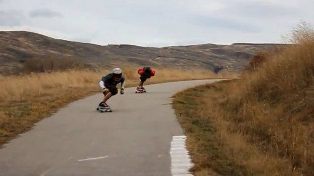 There are thousands of YouTube videos of longboarders flying down hillside roads in Vernon.