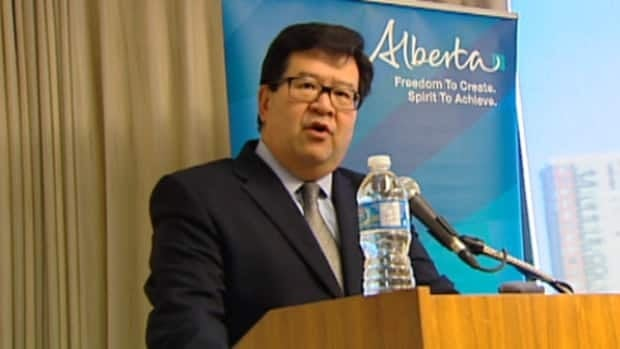 Gary Mar discusses his new role as Alberta's representative in Asia at a news conference on Wednesday.