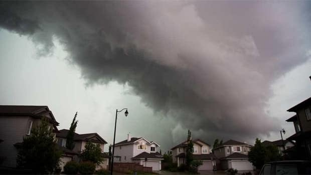 This was the storm as it approached southwest Edmonton Wednesday afternoon.