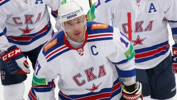 Ilya Kovalchuk returned Monday to SKA St. Petersburg, who he played for during the lockout.