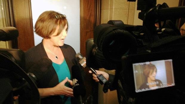 Manitoba's health minister Theresa Oswald speaks to reporters about the Bethania Group investigation on Friday.