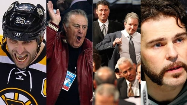 From left to right, the Blackhawks will try to avoid Zdeno Chara; Phil Esposito isn't thrilled about the final matchup; Mario Lemieux and Ray Shero will look back on the Penguins' season; and Jaromir Jagr grooms his mane ahead of Game 1.