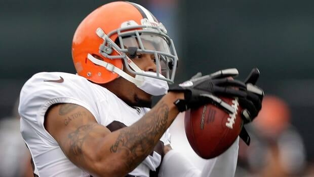 Joe Haden, seen during training camp, had one of four Cleveland interceptions on Sunday.
