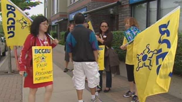 Some 200 BCGEU members were on strike Tuesday, including 40 workers were on strike at the Ministry of Forests, Lands & Natural Resource Operations in Surrey.