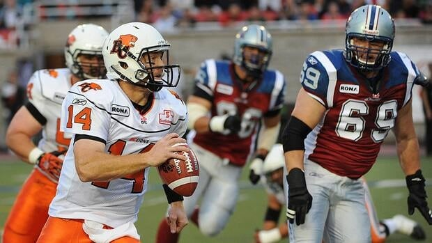 The Montreal Alouettes and B.C. Lions, including quarterback Travis Lulay, left, dominated this season's division all-star selections.