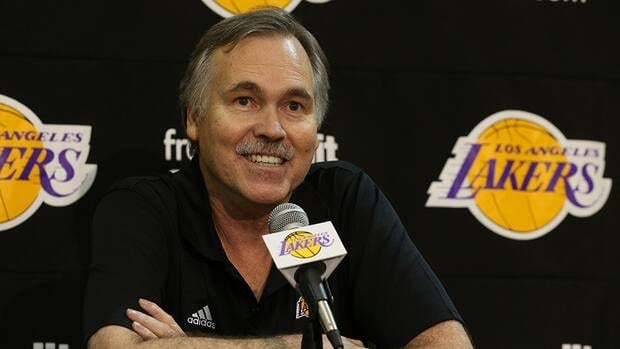Mike D'Antoni speaks at a press confernece introducing him as the new Los Angeles Lakers head coach on November 15. 2012 at the Lakers practice facility at the Toyota Sports Center in El Segundo, California.