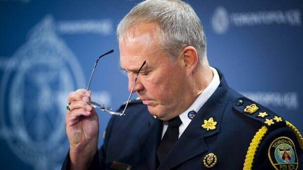 "Toronto police Chief Bill Blair says that police are ""investigating very vigorously any gang aspects"" to the shooting that left two dead and 23 wounded in Scarborough on Monday night."