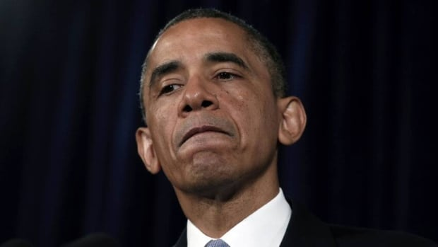 U.S. President Barack Obama pauses while speaking about the National Security Agency's secret collection of telephone records during a visit to San Jose, California, on June 7, 2013.