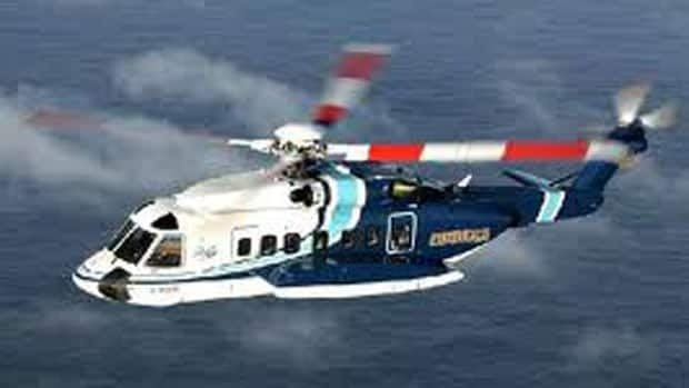 Cougar Helicopters flies Sikorsky choppers like this one to offshore oil facilities east of St. John's.