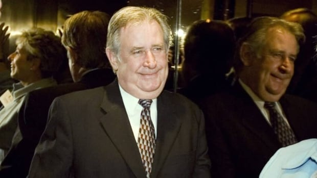 """Then Alberta Premier Ralph Klein attends a luncheon in Toronto in 2006. Klein, who was nicknamed """"King Ralph,"""" died Thursday at the age of 70."""