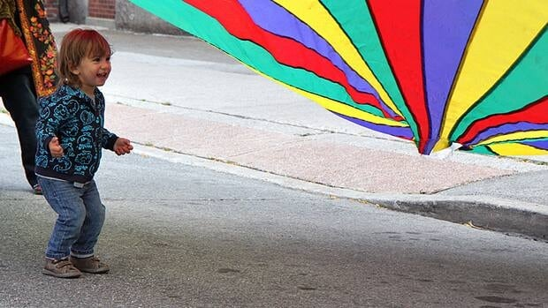 Remember the gym-class parachute? This little guy does.