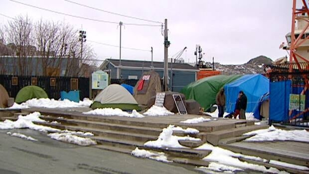 Occupy N.L. has maintained a camp at Harbourside Park in St. John's since mid-October.