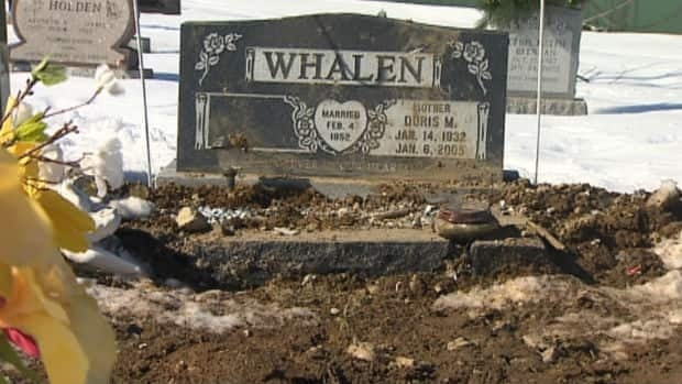 Police are looking for the people responsible for disturbing the gravesite of Joey Whalen, who was murdered in a violent incident on Tessier Place in St. John's last month. CBC