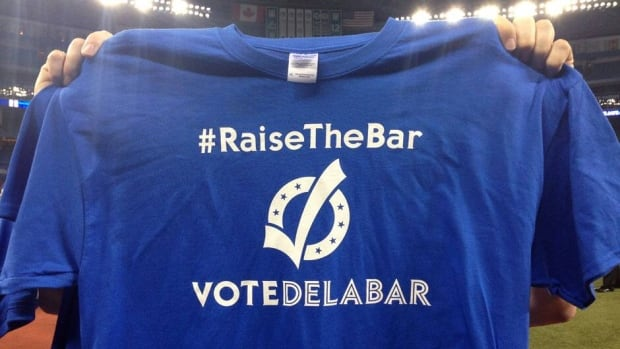 The Toronto Blue Jays want fans to vote for teammate Steve Delabar to go to the all-star game later this month in New York.