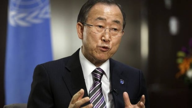 "United Nations Secretary General Ban Ki-moon says the world is now experiencing ""unprecedented challenges."""