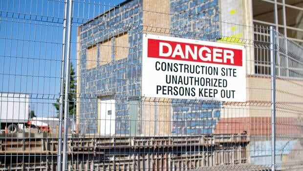 Construction continues at St. Martin's School on the corner of Edward Street South and Mary Street West in Thunder Bay.