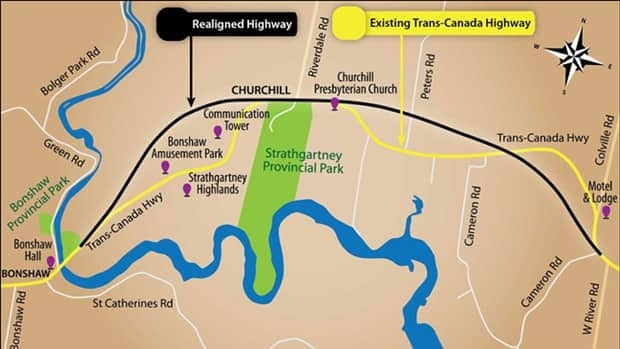 The Plan B project will reroute the Trans-Canada Highway west of Charlottetown.