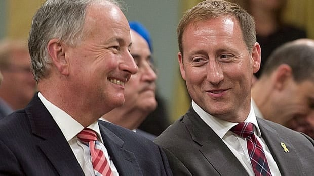 Justice Minister Peter MacKay, right, succeeded Rob Nicholson, now in MacKay's old portfolio of Defence, in this month's cabinet shuffle. MacKay said Thursday he is considering changes to impaired driving sanctions in the Criminal Code.