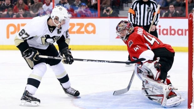 Pittsburgh Penguins captain Sidney Crosby and his teammates will try to generate some offence against Ottawa goalie Craig Anderson and the Senators when their series kicks off Tuesday night.