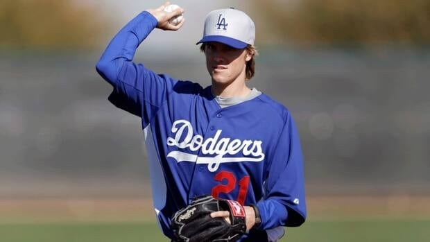 Los Angeles Dodgers pitcher Zack Greinke throws during spring training at Camelback Ranch in Phoenix on Wednesday, Feb. 13, 2013.