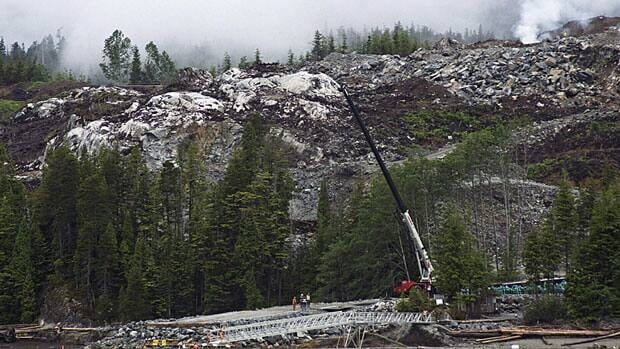 Heavy equipment can be seen working on the Kitimat liquefied natural gas project at Bish Cove, south of Kitimat, B.C., in June. Once built, the project's terminal would export natural gas from northeastern B.C. to markets in Asia.