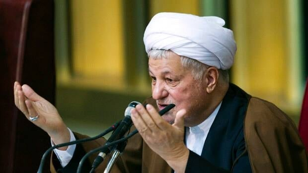 Former Iranian president Akbar Hashemi Rafsanjani favours a more open approach to the West.