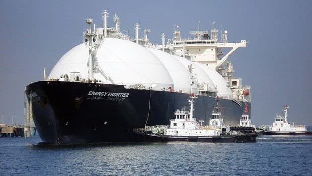 A liquefied natural gas tanker arrives at Sodegaura city in Chiba prefecture, east of Tokyo in 2009. The B.C. government announced a plan to collect revenues from LNG exports to Asia to pay down debt and reduce or eliminate the provincial sales tax.