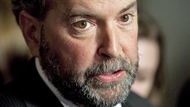 NDP support is still within striking distance of the Tories, a new poll suggests, but has slipped slightly following the surge after Tom Mulcair took over as leader.