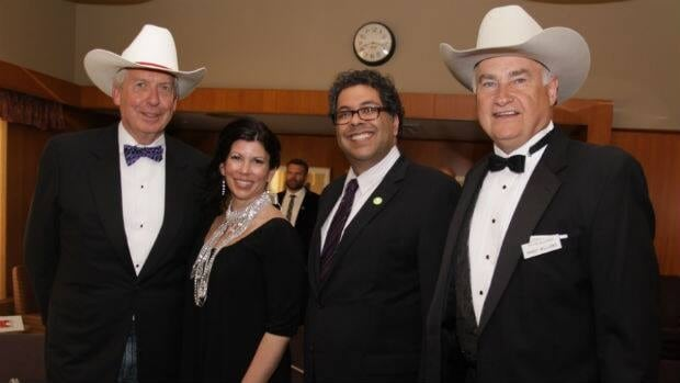 Tourism Calgary board chair Rod McKay; Christine Cusanelli, minister of Alberta Tourism, Parks and Recreation; Calgary Mayor Naheed Nenshi and Tourism Calgary president Randy Williams were on hand Wednesday night for the 50th Annual White Hat Awards.