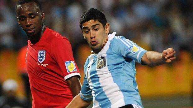 Matias Laba, right, seen during the U-20 World Cup group in 2011, has been playing for Argentinos Juniors