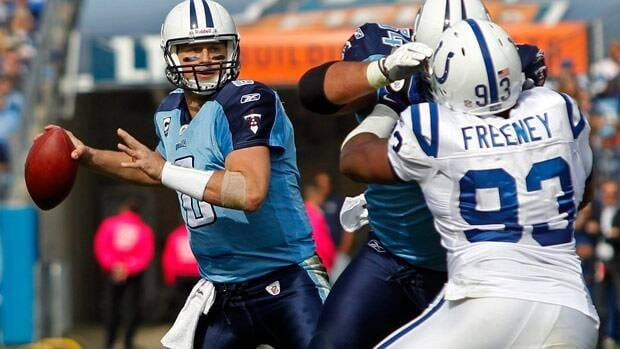 Quarterback Matt Hasselbeck throws against Indianapolis during a 2011 game.