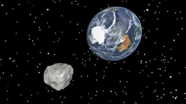 An asteroid passed by Earth in February as seen in this illustration. Canadian space enthusiasts will take on a series of NASA's design challenges in April, such as creating an app that allows citizen astronomers to register asteroids and comets.