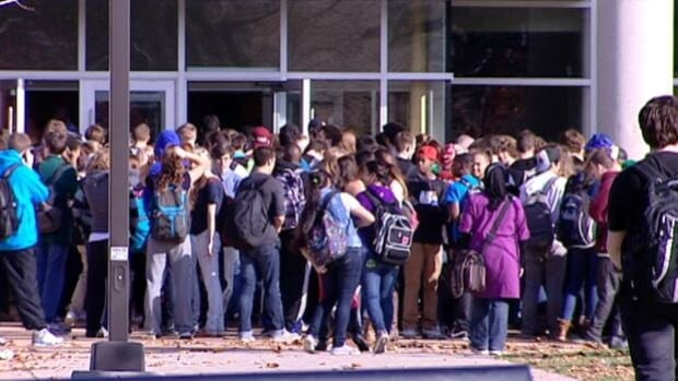 Students were kept outside Citadel High School while the building was ventilated after someone sprayed a sensory irritant.