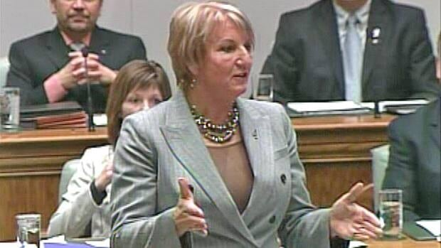 Premier Kathy Dunderdale speaks in the house of assembly today.