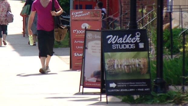 Charlottetown is cracking down on sidewalk sandwich boards.