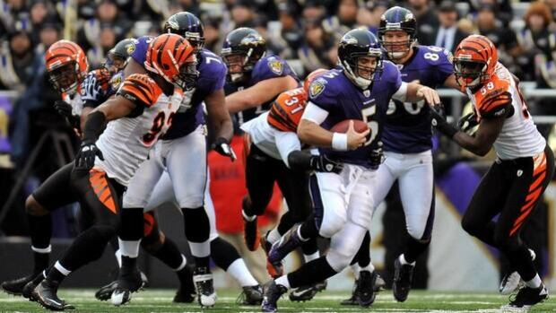 The Bengals hope to make life miserable for Joe Flacco (5) and the Ravens on Monday night.