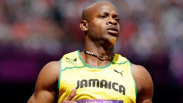 Former 100-metre world-record holder Asafa Powell tested positive for the stimulant oxilofrone.