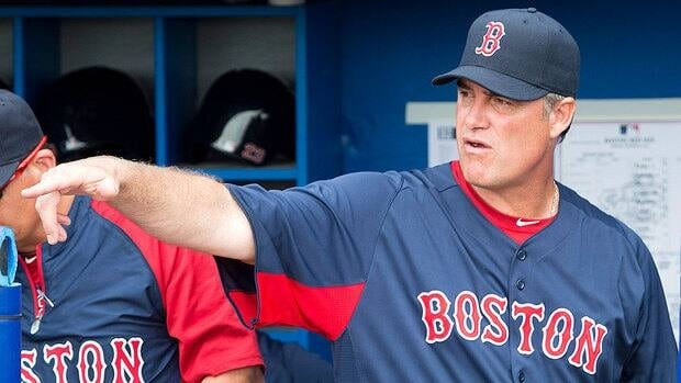 "Red Sox manager John Farrell seemed less than interested Monday in looking back at his time with the Blue Jays, although he called his time in Toronto ""two great years."""