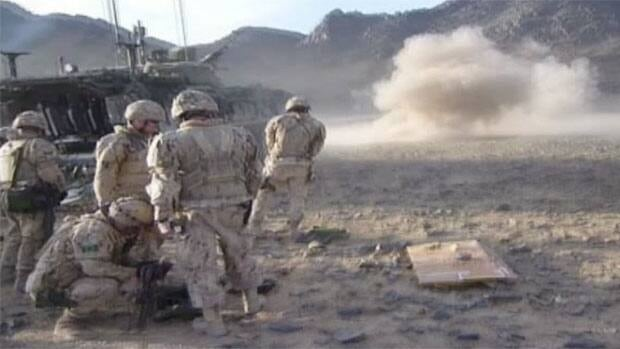 Images from the training range explosion in Afghanistan that killed one soldier and hurt four others.