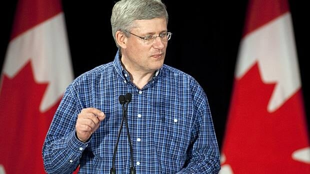 Prime Minister Stephen Harper tells an audience at his annual riding association barbecue in Calgary Saturday that he believed his former chief of staff Nigel Wright acted alone in repaying Senator Mike Duffy's expenses.