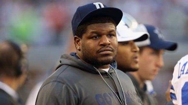 Josh Brent during a game against the Pittsburgh Steelers at Cowboys Stadium on December 16, 2012 in Arlington, Texas.