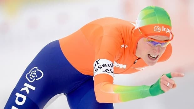Ireen Wust of Netherlands competes in the Women's 3000-metre race during day two of the ISU Speed Skating World Cup at Max Aicher Arena on Sunday in Inzell, Germany.