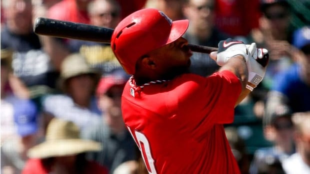 Vernon Wells is batting .361 in spring training with four homers and 11 RBIs in 36 at-bats.