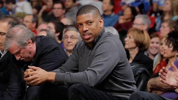 Sacramento mayor Kevin Johnson during a game between the Oklahoma City Thunder and Sacramento Kings on January 25, 2013.