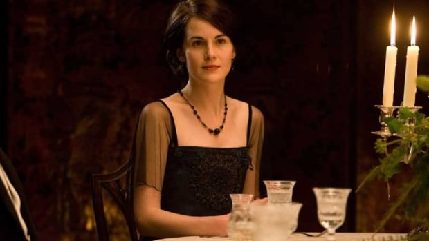 Michelle Dockery portrays Lady Mary  in the Downton Abbey. The fashion of the day was for French cuisine in the upstairs dining room, says Pamela Foster, a Canadian who has written a cookbook of Downton Abbey recipes.